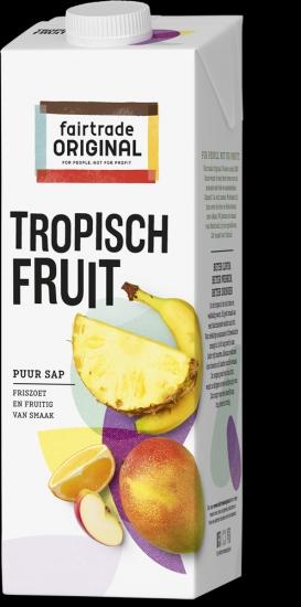 Sap - Tropisch Vruchtensap Fruit: ananas mango sinaasappel banaan en appel - 1 liter Max Havelaar -