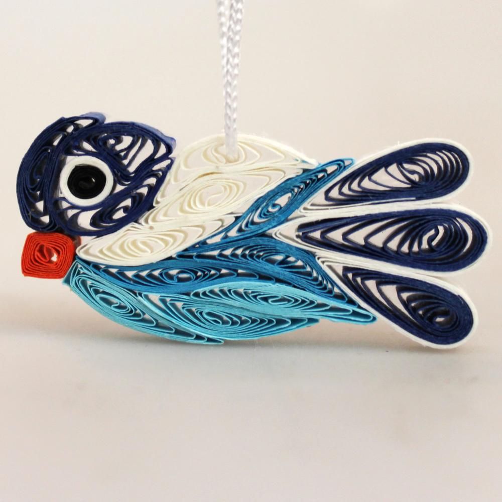 Hanger Vogel papier 5cm - Vietnam