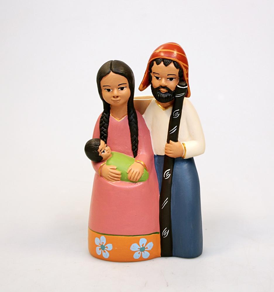 Kerstgroep keramiek uit 1 stuk H 15 cm, BA - Peru