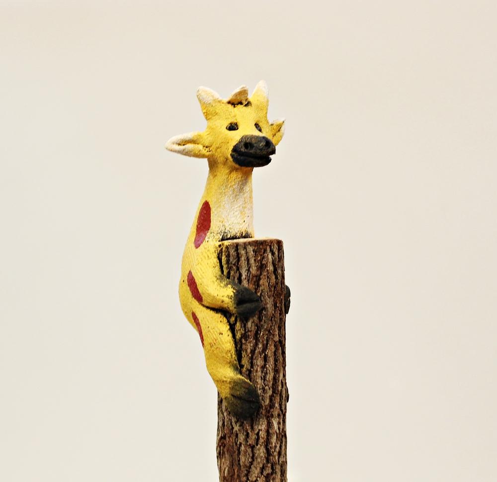 Potlood Takje hout met giraffe - Thailand