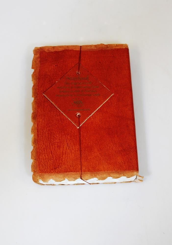 Notitieboek 10x14cm bruin leer - India