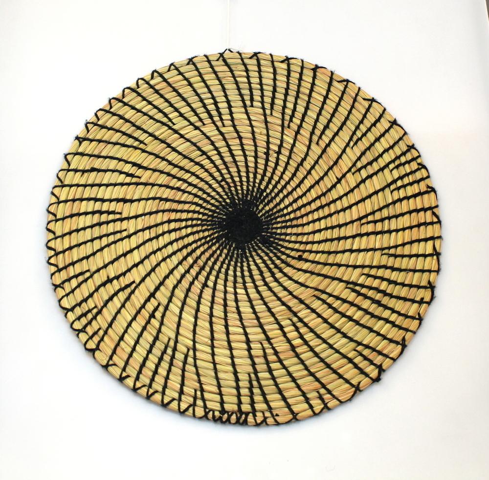 Placemat rond, zeegras dik, D 35cm - Vietnam