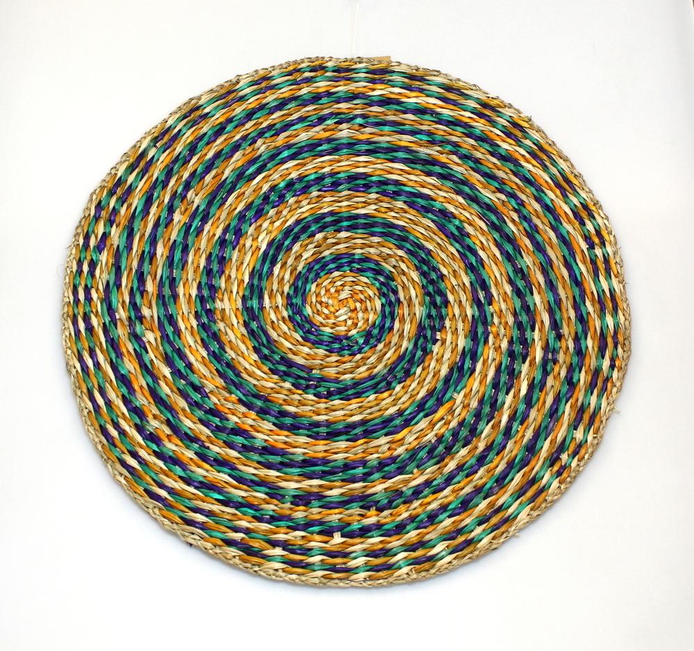 Placemat rond, zeegras multicolor, D 35cm - Vietnam