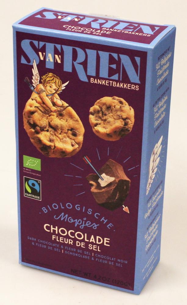 Koekjes van Strien chocolade en fleur de sel, bio 120g - Cerro Azul