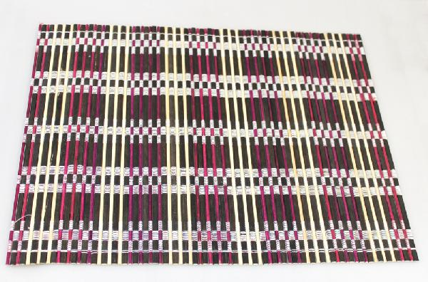 Placemat bamboe 30x40cm paars - Vietnam