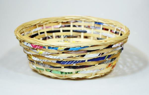 Mand bamboe recycled papier D 22cm H 9cm - Vietnam