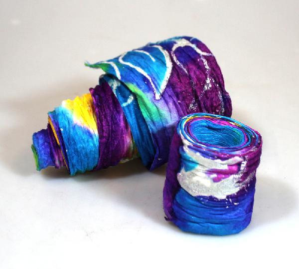 Band batik, papier 5 cm breed, 120 cm lang - Guatemala