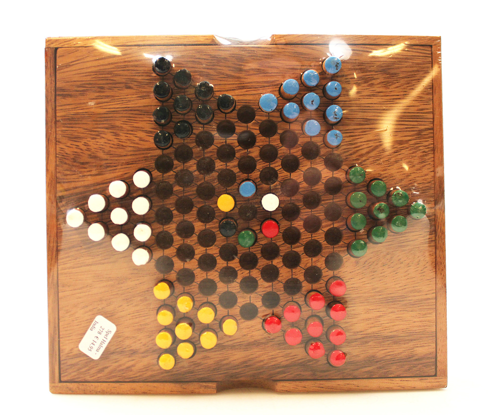 Spel Halma - Chinese Checkers hout G172 - Thailand