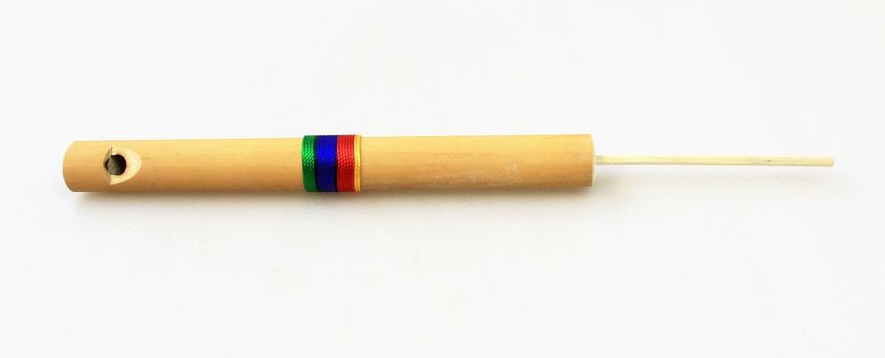 Fluit bamboe Vogel met gekleurd bandje - Peru