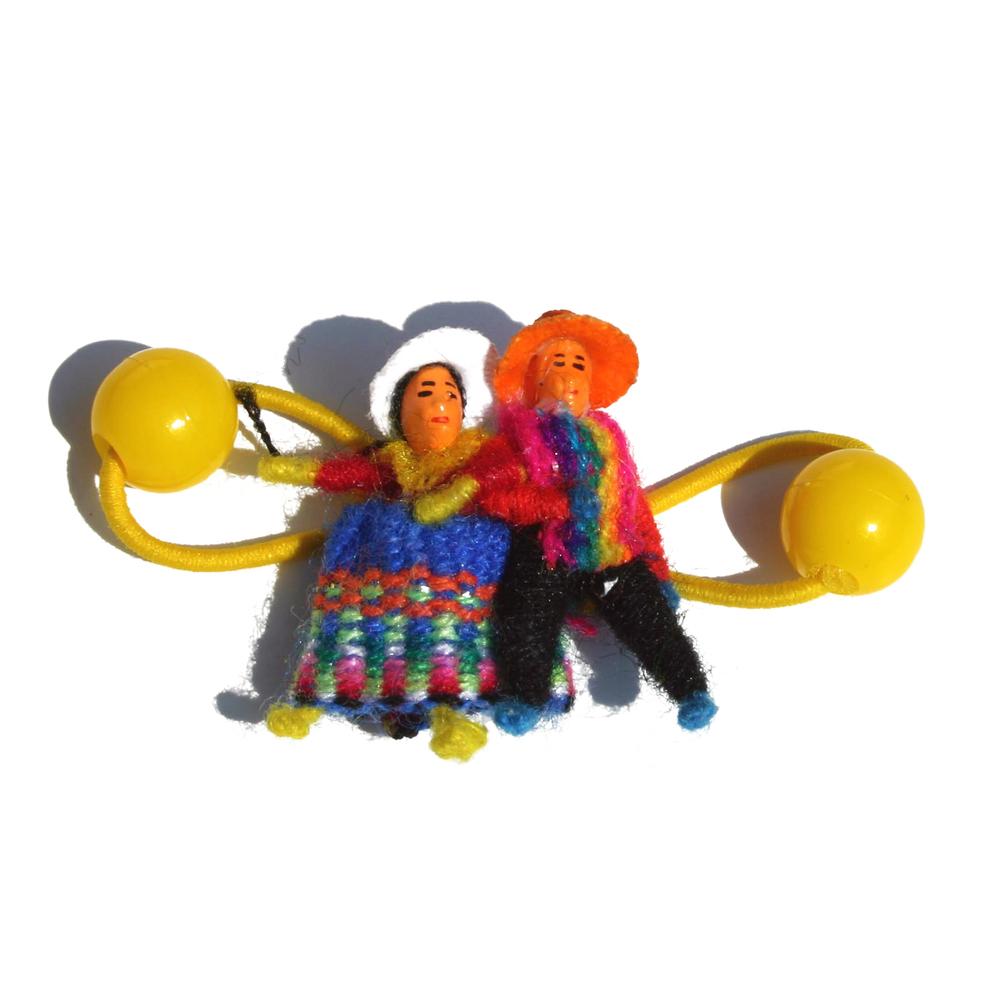 Haarelastiek met 2 Poppetjes Titicaca - Peru