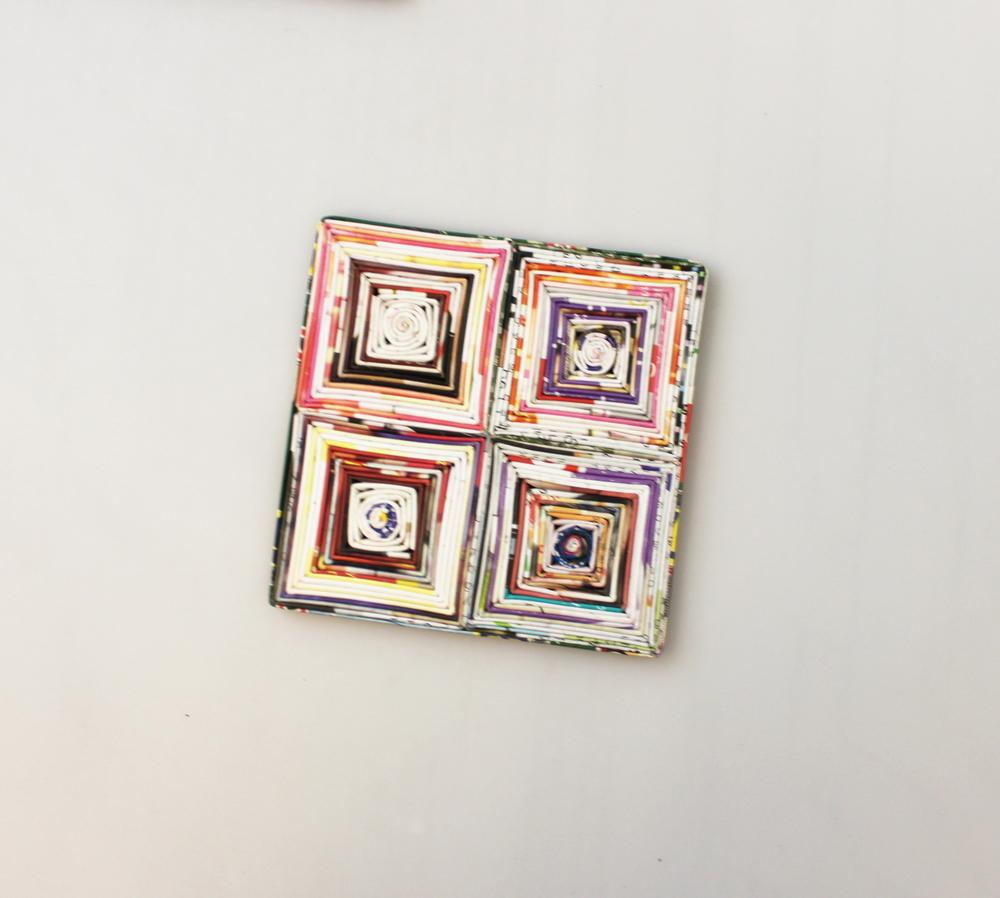 Onderzetter papier vierkant 10x10cm - Vietnam