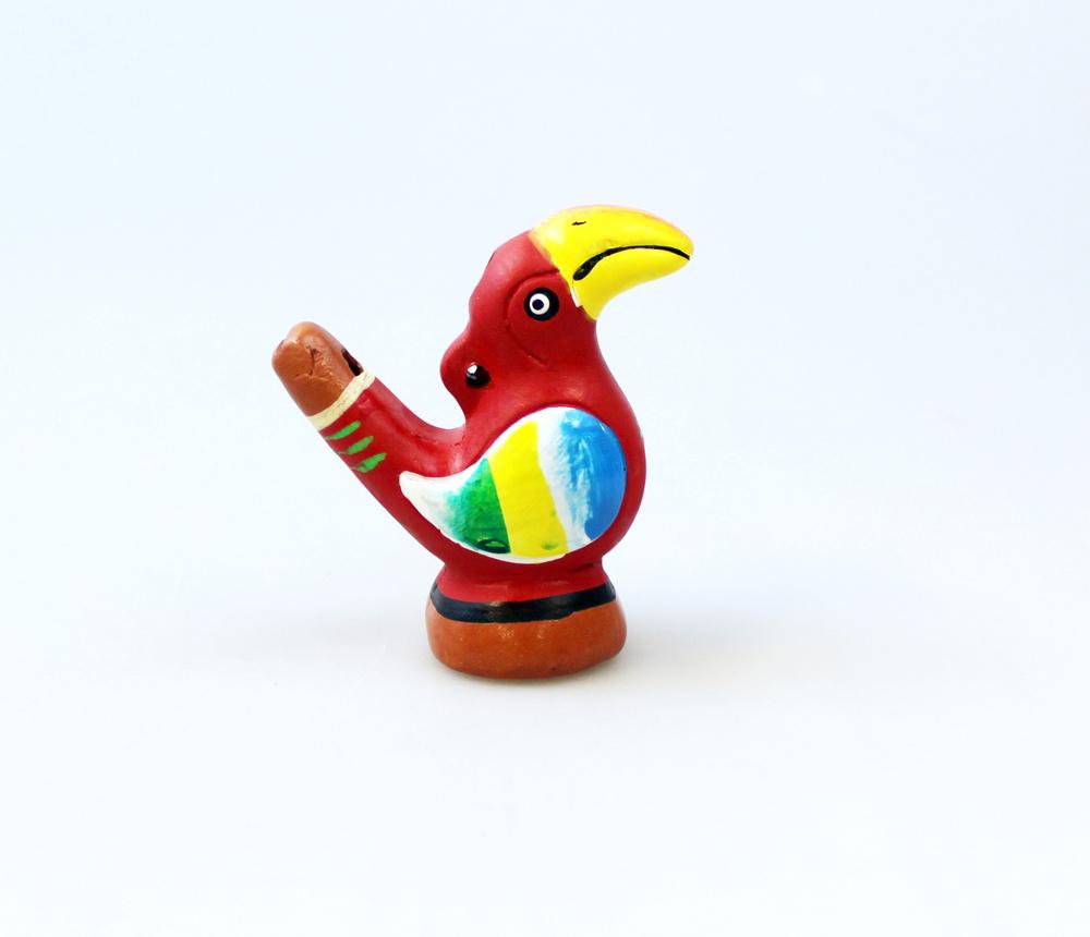 Vogelfluitje keramiek - Peru
