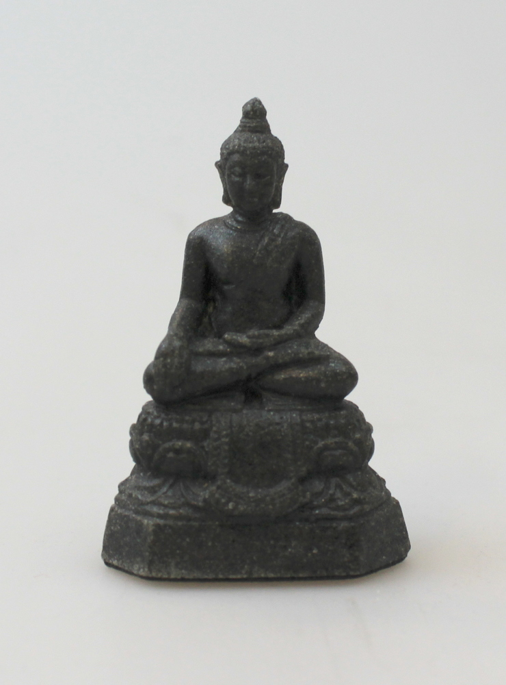 Boeddha Beeld graniet 06cm zwart - Sri Lanka