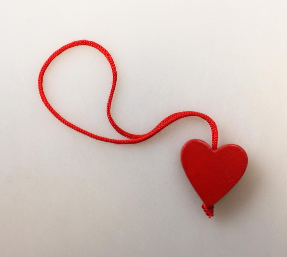 Gelukspoppetje hanger hart - Sri Lanka