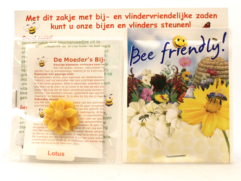 Geurvorm van bijenwas met zakje bee friendly zaden - Mothers Fragrances Moeders Geuren - India