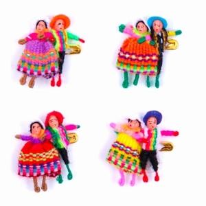 Broche 2 Gelukspoppetjes - Peru