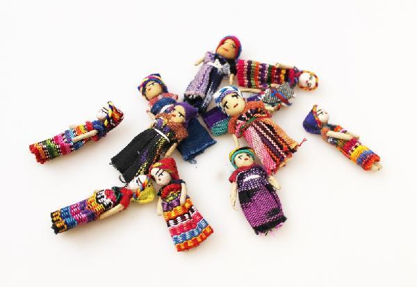 Worrydoll - Gelukspopje Enkel 5 cm - Guatemala