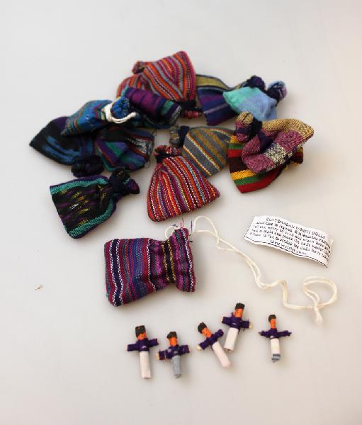 Worrydolls - Gelukspopjes 6x klein in zakje - Guatemala