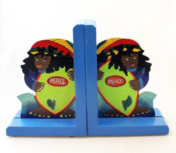 Boekensteunen beschilderd hout-hardboard - Haiti
