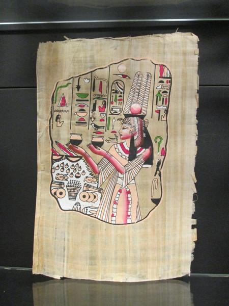 Schilderij Papyrus Koningshoofd - Egypte