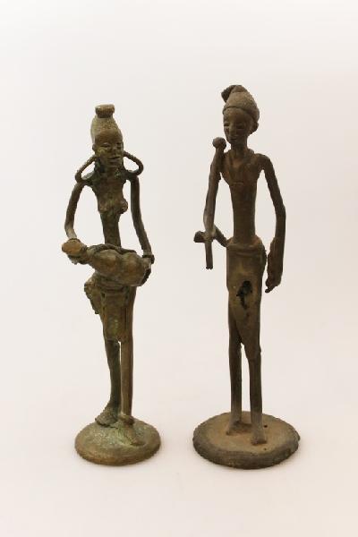 Flesopener brons / Figuur staand: div. Figuren 14-20cm brons - Ghana AANB: NU
