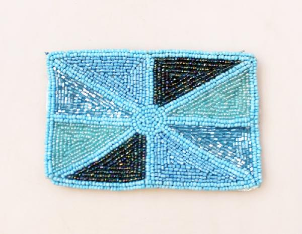 Portemonnee Kralen Turquoise - India