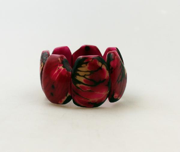 Armband Tagua breed div kleuren - Ecuador