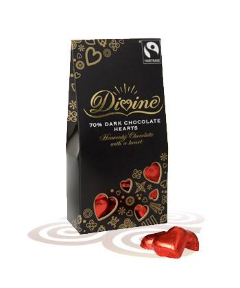 Hartjes 125g pure chocolade Divine - Ghana + Sierra Leone