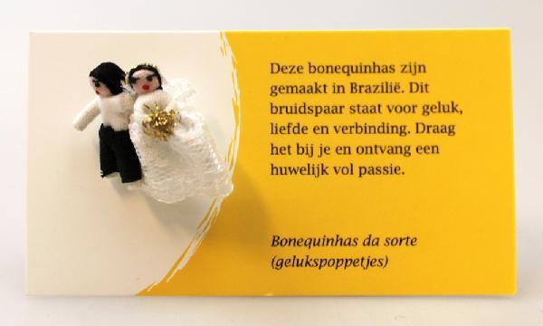 Gelukspoppetje, Bruidspaar - Bonequinha - Brazilie