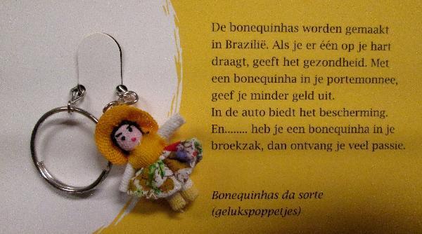 Gelukspoppetje, Sleutelhanger - Bonequinha - Brazilie