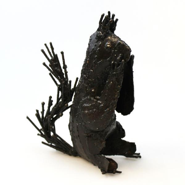 Eekhoorn metaal 15cm, dierfiguur - GA Zimbabwe