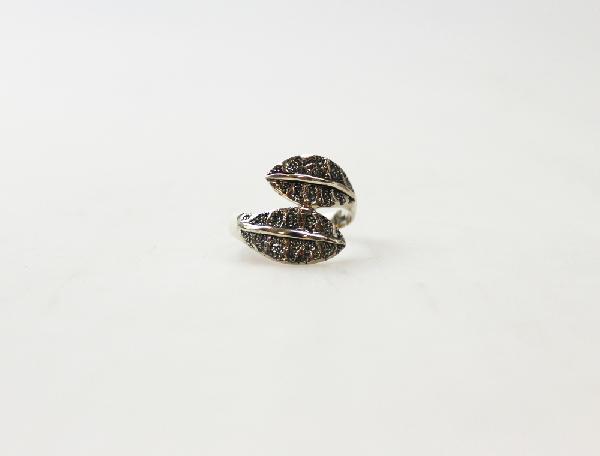Ring zilver 2 bladen 21mm - Nepal