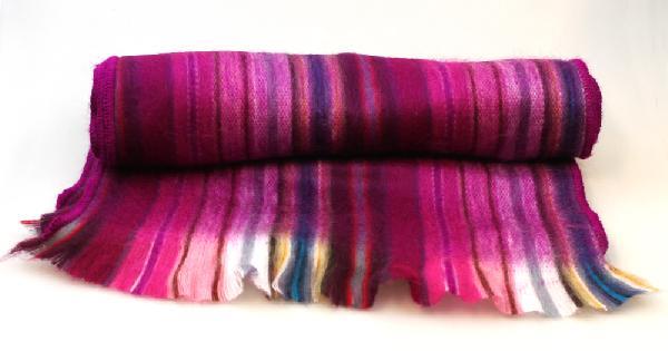 Sjaal - Shawl gestreept Acryl 30x200cm - Peru
