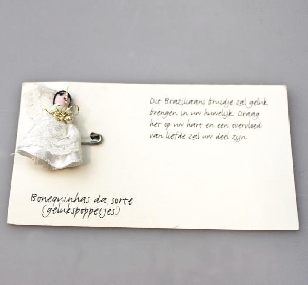Gelukspoppetje, Bruidje met speldje - Bonequinha - Brazilie