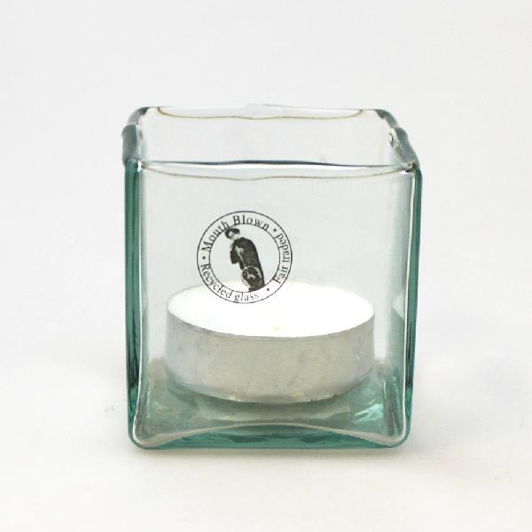 Waxinehouder glas vierkant 5x5x5cm - Vietnam