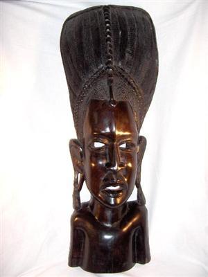 Masker Masai-Maasai, Makonde mpingo-ebbenhout - Tanzania